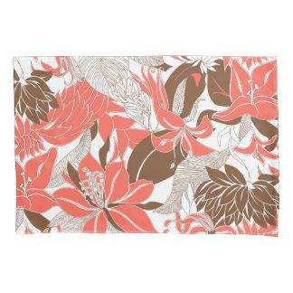輪郭のハワイの熱帯ユリおよびプロテアの花柄 枕カバー