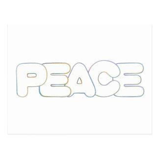 輪郭の芸術-平和-色の単語、郵便はがき はがき