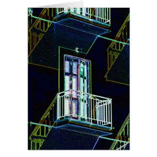 輪郭の階段、バルコニーおよびWindows カード