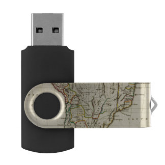 輪郭を描かれる境界の南アメリカ USBフラッシュドライブ