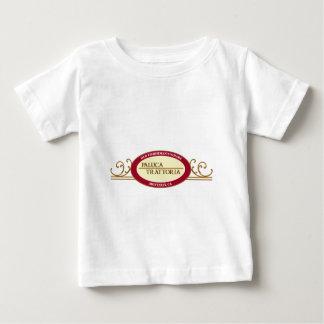 輪郭を描かれるPalucaのトラットリアのロゴのデザイン ベビーTシャツ