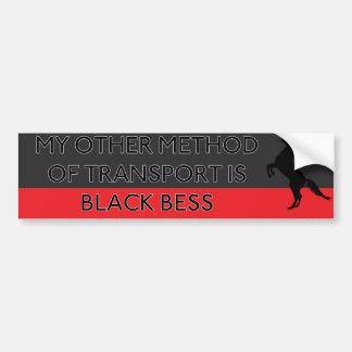 輸送の私の他の方法は黒いBessです バンパーステッカー