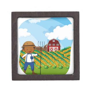 農地で働いている農家 ギフトボックス