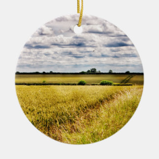 農地の田園景色HDR セラミックオーナメント