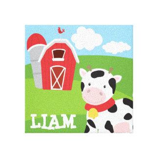 農場の名前と名前入りなテーマの壁のキャンバス キャンバスプリント
