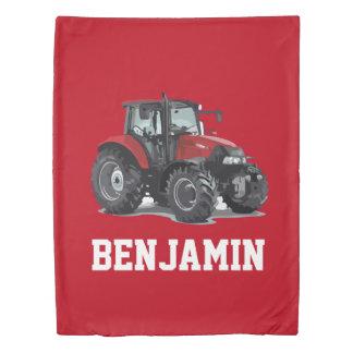 農場の子供の赤いトラクターの寝室の羽毛布団カバー 掛け布団カバー