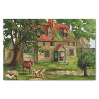 農場の家および国の庭 薄葉紙