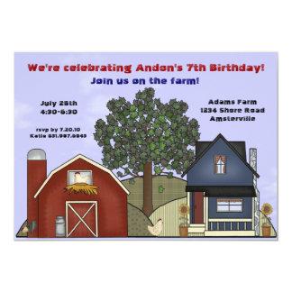 農場の家の招待状 カード