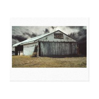 農場の小屋 キャンバスプリント