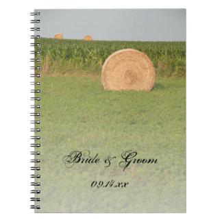 農場の干し草ベール国の結婚式 ノートブック
