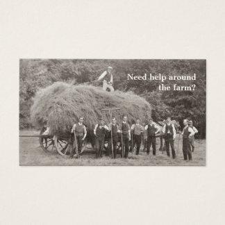 農場の建築業者の名刺 名刺