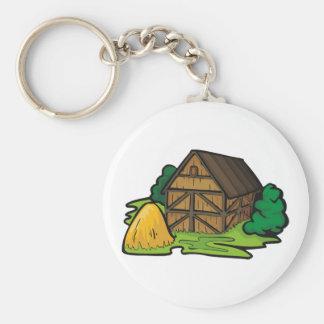 農場の納屋Keychain キーホルダー
