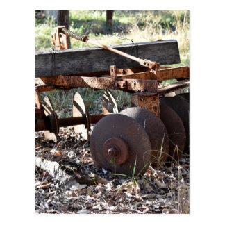 農場の道具田園クイーンズランドオーストラリア ポストカード