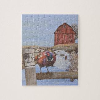 農場のRingneckのキジ ジグソーパズル