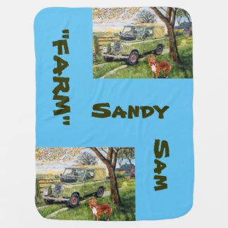 農場サンディサム-ベビーブランケット ベビー ブランケット