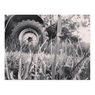 農場トラクターの郵便はがき ポストカード