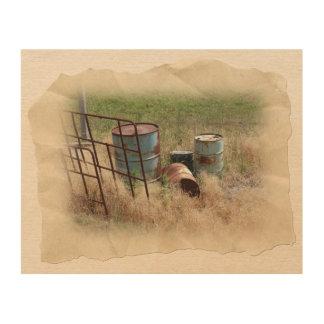 農場場面 ウッドウォールアート