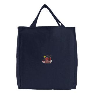 農場場面#1 刺繍入りトートバッグ