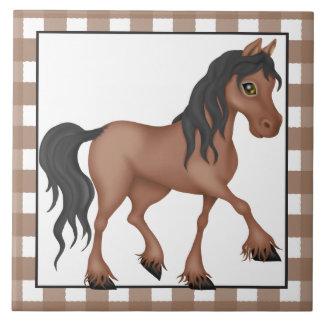 農場馬の漫画の国のタイル タイル