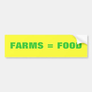 農場=食糧 バンパーステッカー