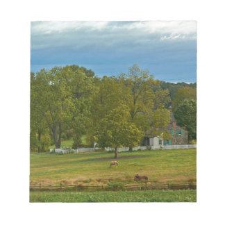 農場- Gettysburgの国立公園-ペンシルバニア ノートパッド