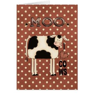 農場Moo Iから愛は挨拶状を脅かします カード