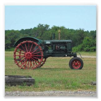 農家のトラクター フォトプリント