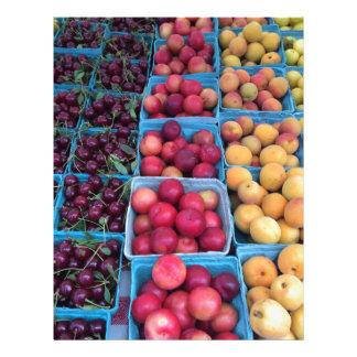 農家の市場のフルーツ レターヘッド