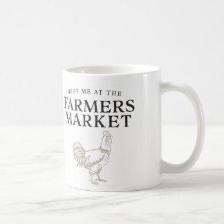 農家の市場のマグで私に会って下さい コーヒーマグカップ