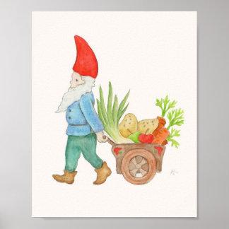 農家の市場の格言の芸術のプリント ポスター