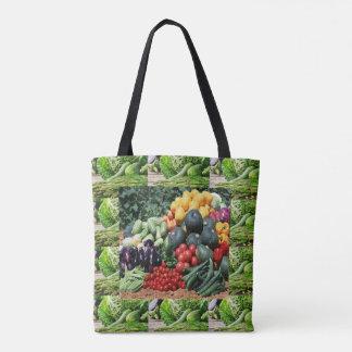 農家の市場の緑のシェフの台所健康な料理 トートバッグ
