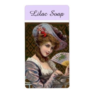 農家の市場の薄紫の石鹸の女性プロダクトラベル 発送ラベル