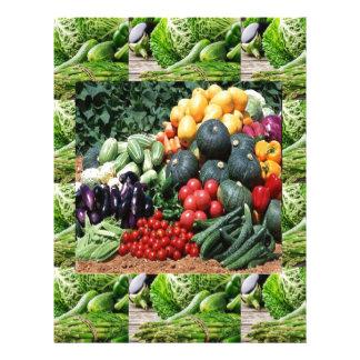 農家の市場の野菜の歓喜のシェフの料理のアイディア レターヘッド