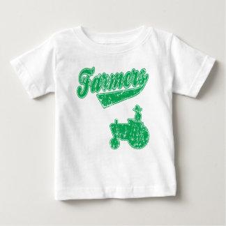 農家の緑のトラクター ベビーTシャツ