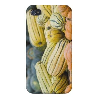 農家の表示のカボチャそして南瓜 iPhone 4 ケース