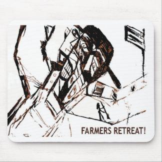 農家の退去の白 マウスパッド