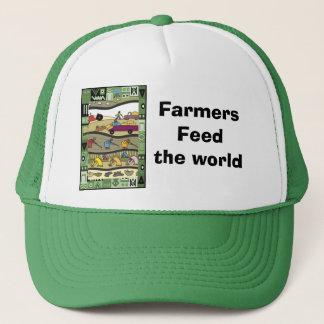 農家は世界を食べ物を与えます キャップ