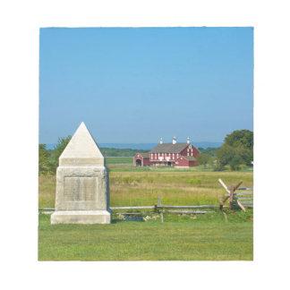農家- Gettysburgの国立公園、PA ノートパッド