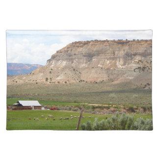 農業の国および丘、南ユタ ランチョンマット