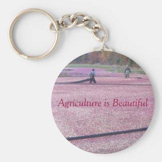 農業は美しいです-クランベリーのスタイル キーホルダー