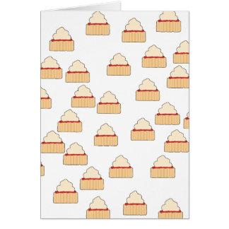 込み合いおよびクリームのSconeパターン カード