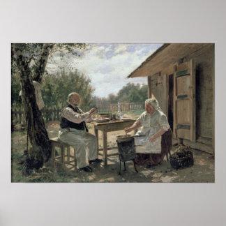 込み合いの作成、1876年 ポスター