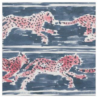 迅速なチータ海軍サファリのBohoの上品の水彩画 ファブリック