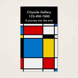 近代美術のギャラリーの名刺 名刺