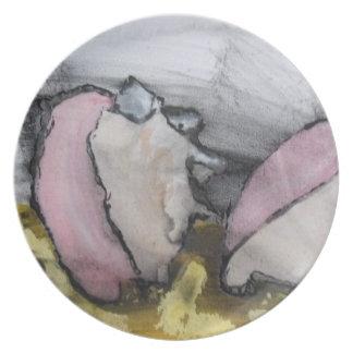 近代美術のプレート-貝殻 プレート