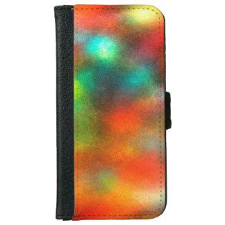 近代美術の抽象芸術色 iPhone 6/6S ウォレットケース