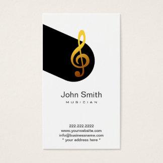 近代音楽の記号のミュージシャンのプロフィールカード 名刺