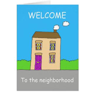 近隣への歓迎 カード