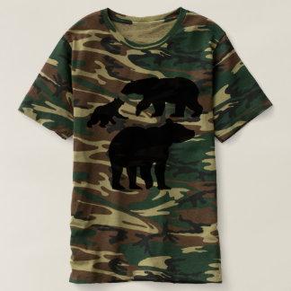 迷彩柄くま Tシャツ