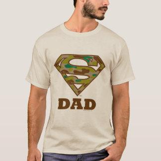 迷彩柄によってすごいパパ Tシャツ